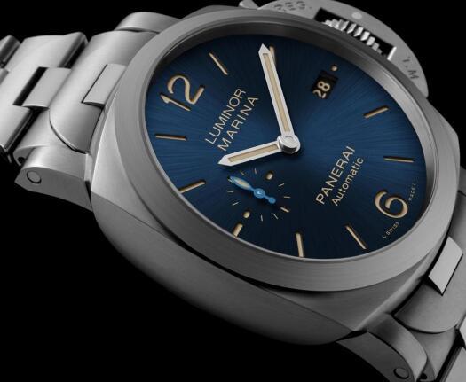 Two Brand-New Panerai Luminor Marina Replica Watches With Blue Dials