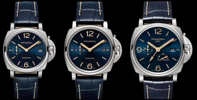 Three New Panerai Luminor Due Replica Watches With Blue Dials