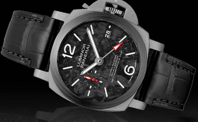 Swiss Fake Panerai Submersible Luna Rossa GMT Watches With Black ScafotechTM Dials