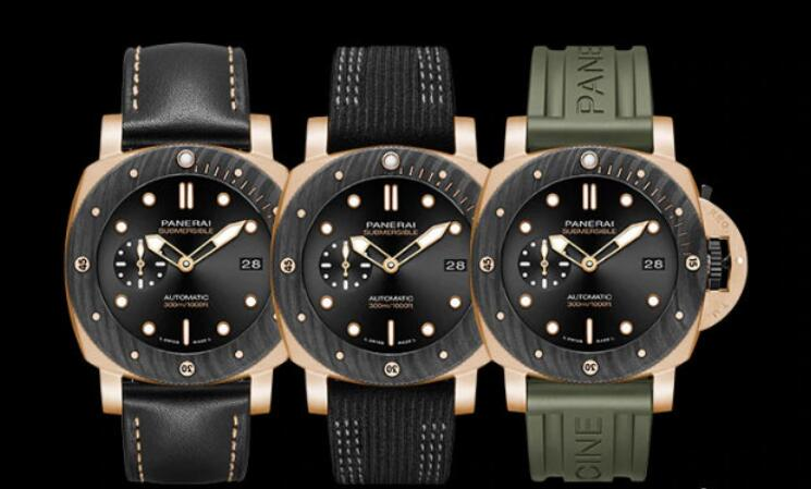 Luxury Online Fake Panerai Submersible Goldtech™ OroCarbo PAM01070 Watches For Sale