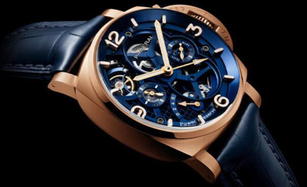 Swiss fake watches are showy with blue color.